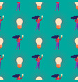 seamless pattern with girl and huge light bulbs vector image vector image