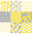 Seamless Patterns - Digital Scrapbook vector image vector image