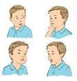 Set boy emotions vector image vector image