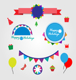 set holiday graphic elements vector image