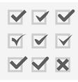 Set of check mark Ok confirm accept voice symbol vector image