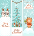 set vertical christmas banners vector image