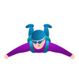skydiver freefall icon cartoon style vector image vector image