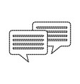 speech bubbles message chat communication talk vector image