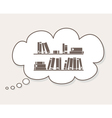 Thinking about learning study knowledge vector image vector image