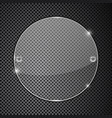 transparent round glass plate on metal perforated vector image vector image