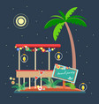tropical landscape in the style of flat 2 vector image vector image