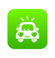 wedding car icon green vector image