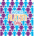 world autism day with background people vector image vector image