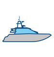 yacht luxury boat vector image vector image