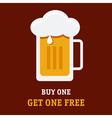 Beer Buy One vector image