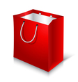 Empty Red Shopping Bag on white background vector image