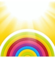 Rainbow Colored Circles Shiny Background Abstract vector image
