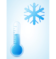 thermometer with snowflake cold weather vector image