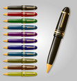 collection of pens vector image