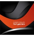 abstract background with Orange black wave vector image