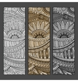 Abstract hand drawn ethnic pattern set vector image