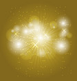 abstract ray light on golden background vector image vector image
