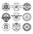Airplane Emblem Set vector image vector image