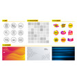 approved checklist trade chart and facts icons vector image vector image