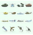 Army Icons Set vector image