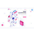 artificial intelligence banner isometric vector image