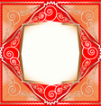 background frame with ornaments vector image vector image