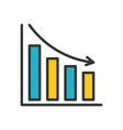 Bar Chart outline icon vector image vector image