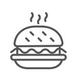 black outlined symbol a hamburger single icon vector image vector image