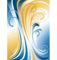 Blue with yellow stripes background vector image vector image