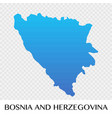 bosnia and herzegovina map in europe continent vector image