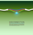cable break disconnect art cover vector image vector image