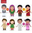 children world afghanistan bangladesh vector image vector image