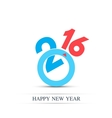 colorful text design happy new year 2016 vector image vector image