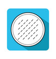 cotton pad flat icon of hygiene products object vector image vector image