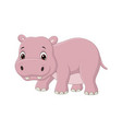 cute bahippo on white background vector image vector image