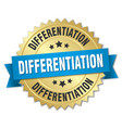 differentiation round isolated gold badge vector image vector image