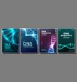 dna poster set biochemistry flyer vector image