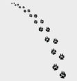 dogs footprints 2 vector image vector image