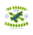 emblem of longboard shop vector image