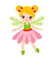 fairy is standing on a white background vector image vector image