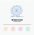 finance flow income making money 5 color line web vector image