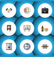 flat icon oneday set of whiteboard partnership vector image vector image