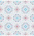 flower dot pattern blue red boho vector image vector image