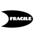 fragile stamp on white vector image