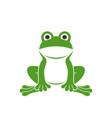frog logo vector image vector image
