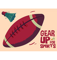 Gear up for sports background vector image vector image