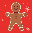 gingerbread man cookie design vector image