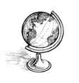 globe on a sketch stand vector image