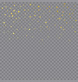 gold confetti or golden glitter particles vector image